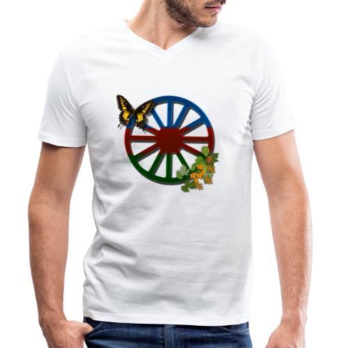 LennyRomanoDromflagalöv - Ekologisk T-shirt med V-ringning herr från Stanley & Stella