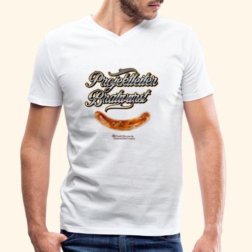 Grillen Design Projektleiter Bratwurst - Männer Bio-T-Shirt mit V-Ausschnitt von Stanley & Stella