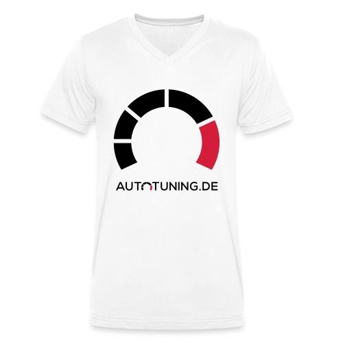 AUTOTUNING_QUADRAT_WEISS - Männer Bio-T-Shirt mit V-Ausschnitt von Stanley & Stella