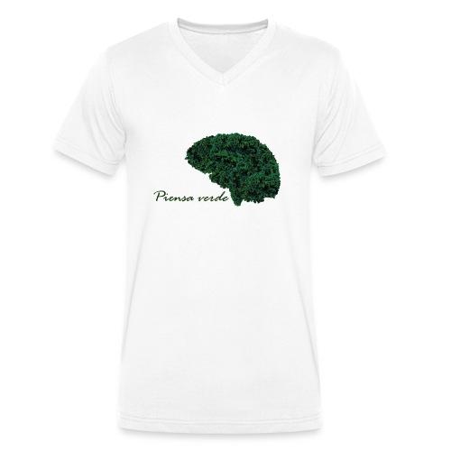 Piensa verde - Camiseta ecológica hombre con cuello de pico de Stanley & Stella