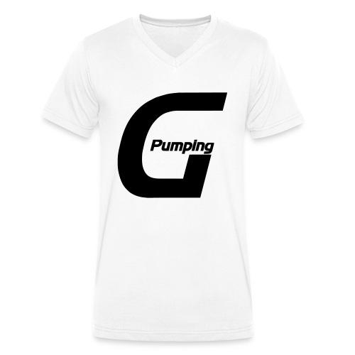 Pumping Generation Logo - Männer Bio-T-Shirt mit V-Ausschnitt von Stanley & Stella