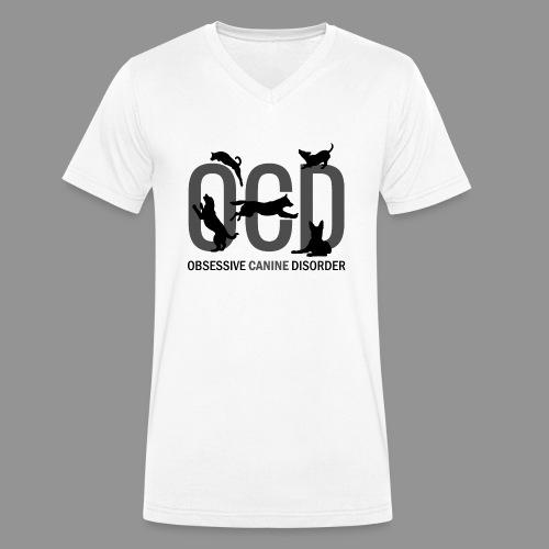 OCD - Obsessive Canine Disorder - Men's Organic V-Neck T-Shirt by Stanley & Stella