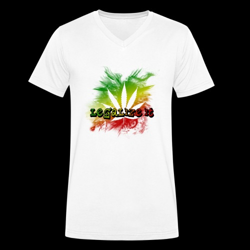 Legalize it - Männer Bio-T-Shirt mit V-Ausschnitt von Stanley & Stella