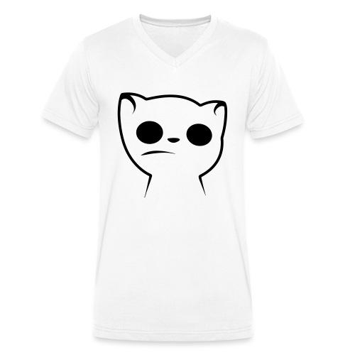 Hypnocat Weiss - Frauen - Männer Bio-T-Shirt mit V-Ausschnitt von Stanley & Stella