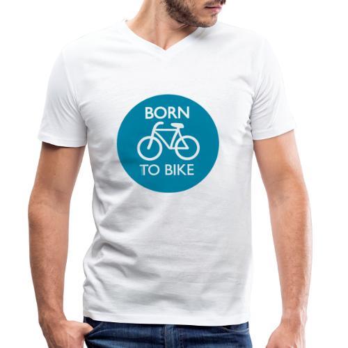 Born To Bike - Männer Bio-T-Shirt mit V-Ausschnitt von Stanley & Stella