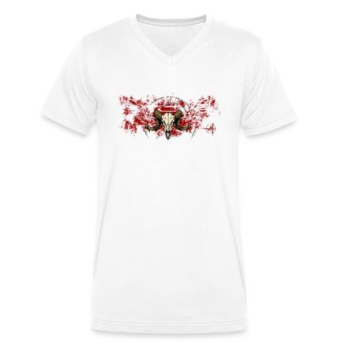 Geflügelter Widderschädel - Männer Bio-T-Shirt mit V-Ausschnitt von Stanley & Stella