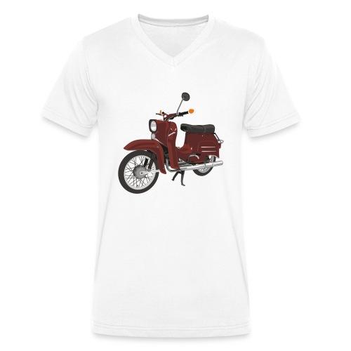Simson Schwalbe - Männer Bio-T-Shirt mit V-Ausschnitt von Stanley & Stella