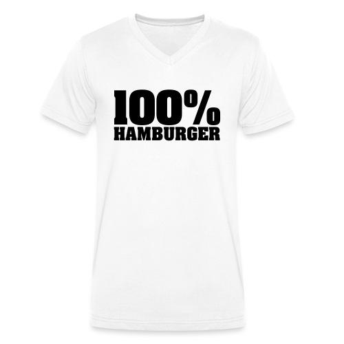 100% Hamburger, Hamburger, echter Hamburger - Männer Bio-T-Shirt mit V-Ausschnitt von Stanley & Stella