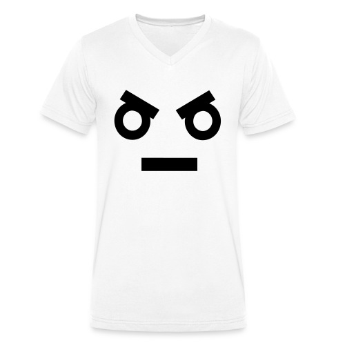 angry buanabu - Men's Organic V-Neck T-Shirt by Stanley & Stella
