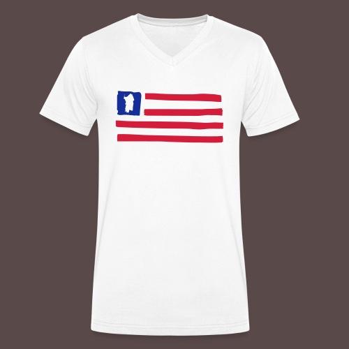 United States of Sardinia - orizzontale - T-shirt ecologica da uomo con scollo a V di Stanley & Stella