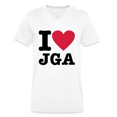 I love JGA - Männer Bio-T-Shirt mit V-Ausschnitt von Stanley & Stella
