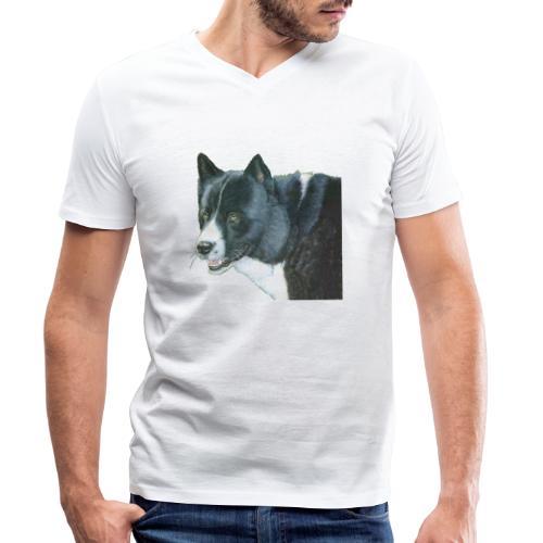 karelian beardog - Økologisk Stanley & Stella T-shirt med V-udskæring til herrer