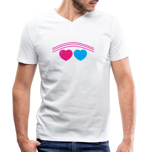 Das Design mit Herz - Männer Bio-T-Shirt mit V-Ausschnitt von Stanley & Stella