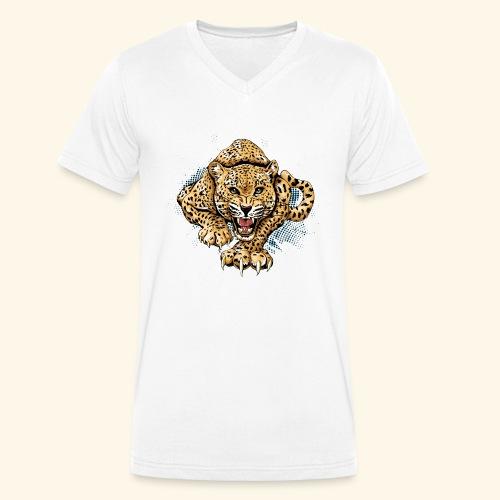 Leopardo KutuXa - Camiseta ecológica hombre con cuello de pico de Stanley & Stella