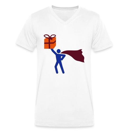geschenk HEH 3 farb vektor - Männer Bio-T-Shirt mit V-Ausschnitt von Stanley & Stella