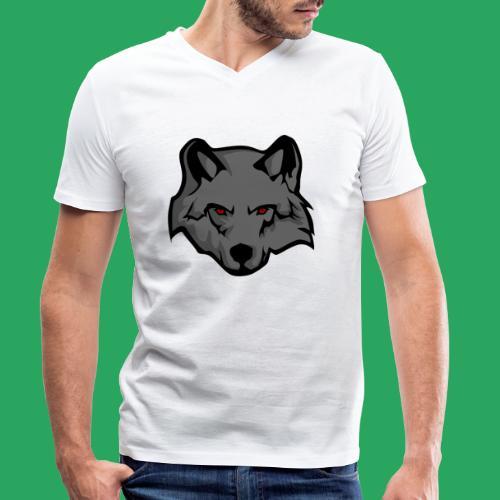 wolf logo - T-shirt ecologica da uomo con scollo a V di Stanley & Stella