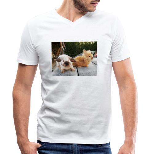 Nouche en Ninou - Mannen bio T-shirt met V-hals van Stanley & Stella