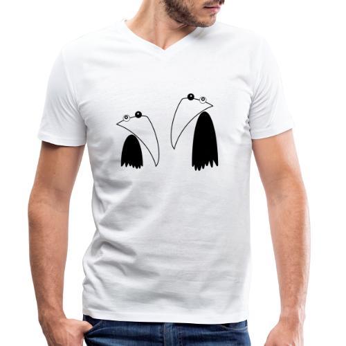 Raving Ravens - black and white 1 - Männer Bio-T-Shirt mit V-Ausschnitt von Stanley & Stella