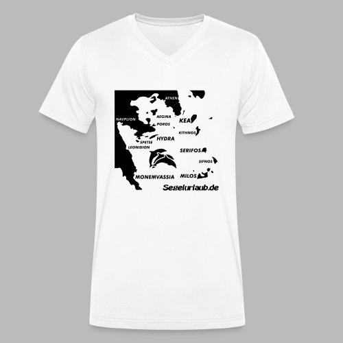 pelepones_kykladen - Männer Bio-T-Shirt mit V-Ausschnitt von Stanley & Stella