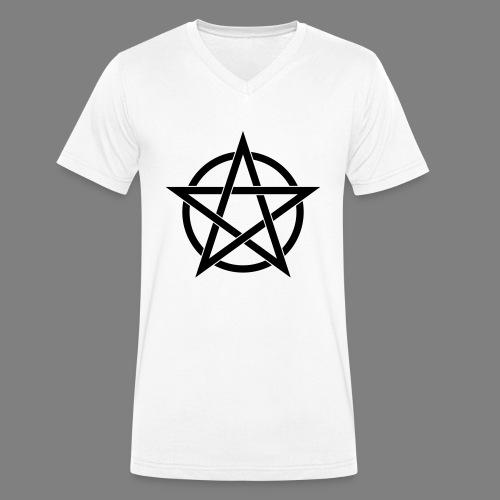 pentagramm - Männer Bio-T-Shirt mit V-Ausschnitt von Stanley & Stella