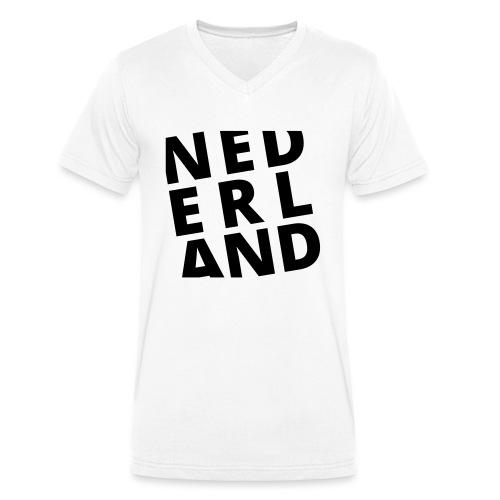 Nederland - Mannen bio T-shirt met V-hals van Stanley & Stella