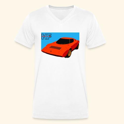 rally car - Men's Organic V-Neck T-Shirt by Stanley & Stella