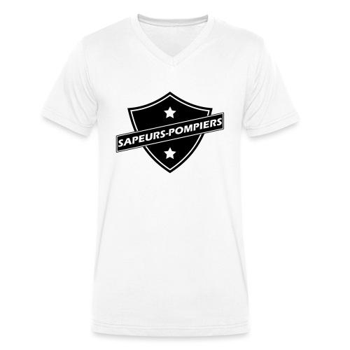 blason sapeurs-pompiers - T-shirt bio col V Stanley & Stella Homme