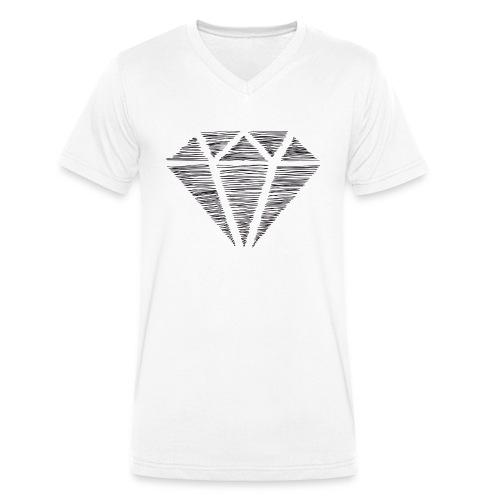 Diamante - Camiseta ecológica hombre con cuello de pico de Stanley & Stella
