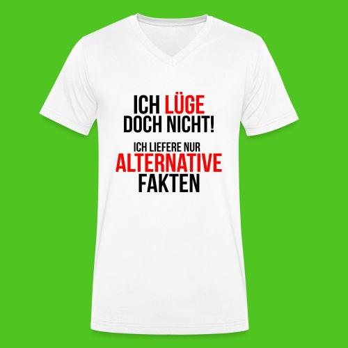 Alternative Fakten - Männer Bio-T-Shirt mit V-Ausschnitt von Stanley & Stella