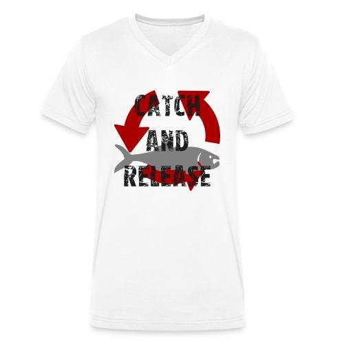 catch and release - Männer Bio-T-Shirt mit V-Ausschnitt von Stanley & Stella