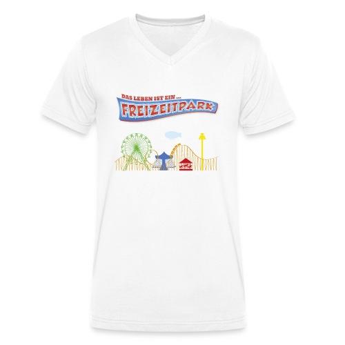 Das Leben ist ein Freizeitpark - Männer Bio-T-Shirt mit V-Ausschnitt von Stanley & Stella