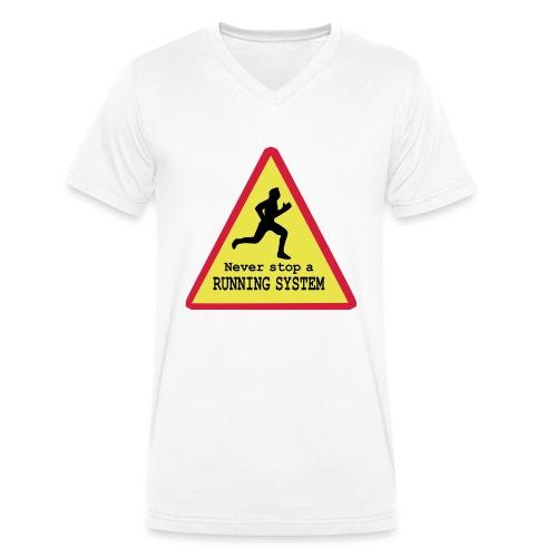 Never stop running - Männer Bio-T-Shirt mit V-Ausschnitt von Stanley & Stella