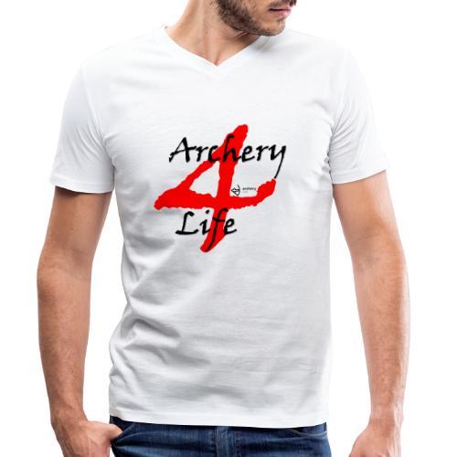 Archery4Life - Männer Bio-T-Shirt mit V-Ausschnitt von Stanley & Stella