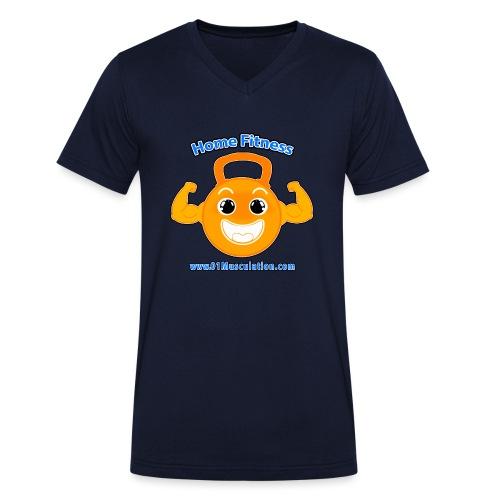 Logo 01Musculation Home Fitness Kettlebell - T-shirt bio col V Stanley & Stella Homme