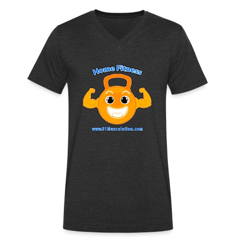 Logo 01Musculation Home Fitness Kettlebell - T-shirt bio col V Stanley & Stella Homme