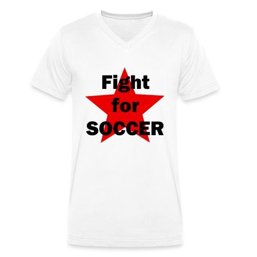 Fight for SOCCER - Männer Bio-T-Shirt mit V-Ausschnitt von Stanley & Stella