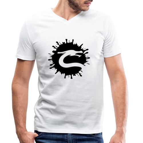 Dragemester_Sort - Økologisk Stanley & Stella T-shirt med V-udskæring til herrer