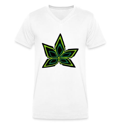 Hanfblatt #2 (3farbig) - Männer Bio-T-Shirt mit V-Ausschnitt von Stanley & Stella