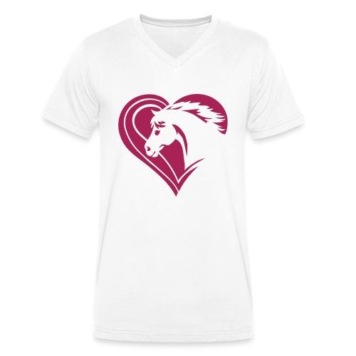 Iheart horses - Männer Bio-T-Shirt mit V-Ausschnitt von Stanley & Stella