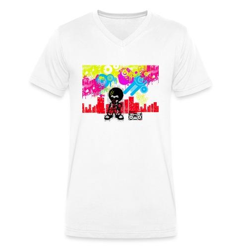 T-Shirt Happiness Uomo 2016 Dancefloor - T-shirt ecologica da uomo con scollo a V di Stanley & Stella