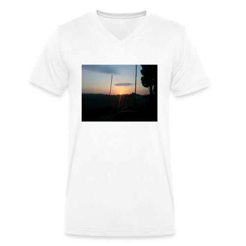 sol de noche - Camiseta ecológica hombre con cuello de pico de Stanley & Stella