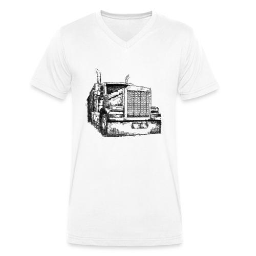 Typewriter Truck - Männer Bio-T-Shirt mit V-Ausschnitt von Stanley & Stella