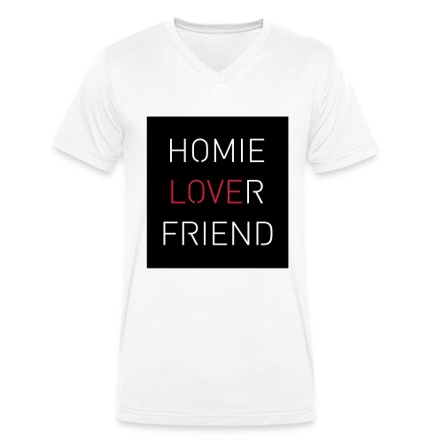 Homie Lover Friend - Männer Bio-T-Shirt mit V-Ausschnitt von Stanley & Stella
