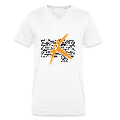 Palazzo Textblock auf weiss/on white - Männer Bio-T-Shirt mit V-Ausschnitt von Stanley & Stella