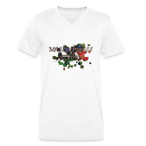 Massiv Pixels Studio - Logo Standard - Männer Bio-T-Shirt mit V-Ausschnitt von Stanley & Stella