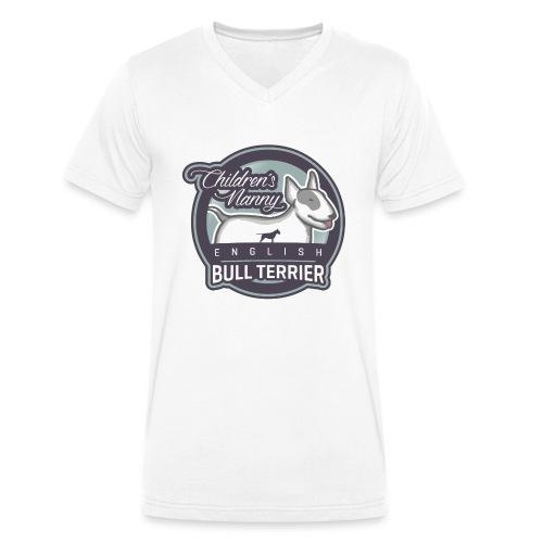 English Bull Terrier Children´s Nanny - Männer Bio-T-Shirt mit V-Ausschnitt von Stanley & Stella