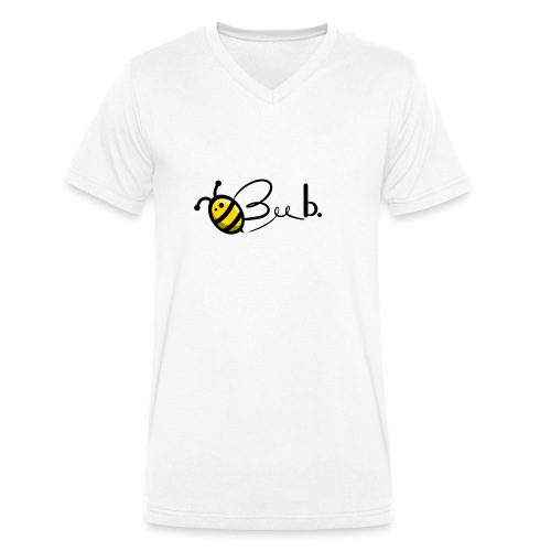 Bee b. Logo - Men's Organic V-Neck T-Shirt by Stanley & Stella