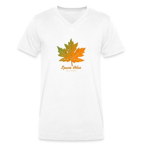 Space Atlas Long Sleeve T-shirt Autumn Leaves - Økologisk Stanley & Stella T-shirt med V-udskæring til herrer
