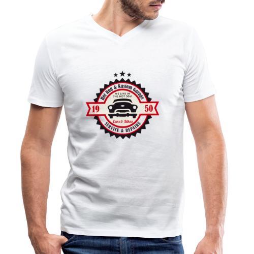 Hot Rod and Kustom Garage - Männer Bio-T-Shirt mit V-Ausschnitt von Stanley & Stella