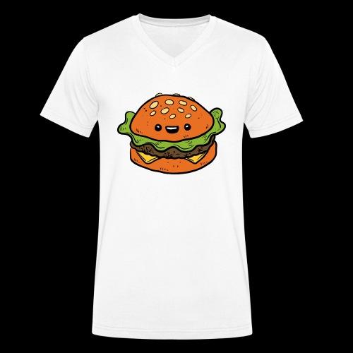 Star Burger - Mannen bio T-shirt met V-hals van Stanley & Stella